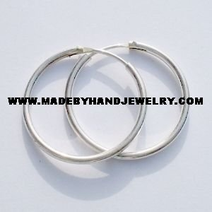 .950 Silver Hoops