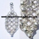Handmade .950 Pure Silver Earrings with Silver Chakiras