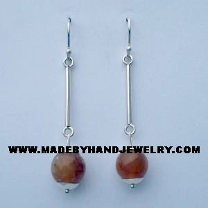 .950 Pure Silver Earrings with Opal