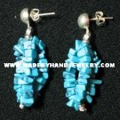 .950 Pure Silver Earrings with Turqoise