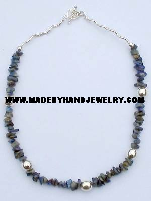 .950 Silver Necklace with Lapis Lazuli *EMAIL SIZE FOR AVAILABILITY AND PRICE*