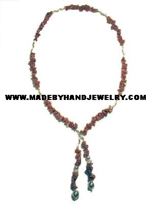 .950 Silver Necklace with Jasper *EMAIL SIZE FOR AVAILABILITY AND PRICE*