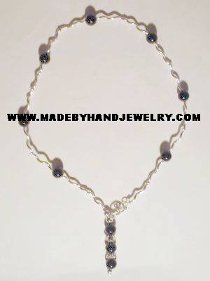 Handmade .950 pure silver necklace and Black Onyx
