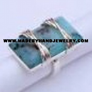 .950 Silver Ring with Andean Rectangular Opal *EMAIL SIZE FOR AVAILABILITY AND PRICE*