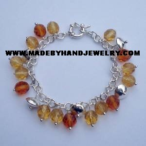 .950 Silver Bracelet with Various colored Murano *EMAIL SIZE FOR AVAILABILITY AND PRICE*
