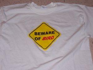 """Wheeling Jesuit """"Beware of Bird"""" Tee"""