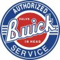 """BUICK AUTHORIGED SERVICE 11.75"""" Dia. ROUND  TIN SIGN    """"FREE SHIPPING"""""""