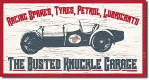 "Busted Knuckle - Auto   16' X 8.5' TIN SIGN ""FREE SHIPPING"""