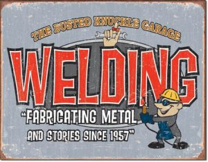 """BKG - Welding 16""""Wx12.5""""H  TIN SIGN """"FREE SHIPPING"""""""