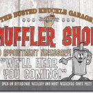 "Busted Knuckle - Muffler Shop 16""Wx12.5""H  TIN SIGN ""FREE SHIPPING"