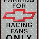"Chevy Racing Parking 12.5""W x 16""H TIN SIGN ""FREE SHIPPING"