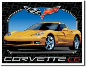 "Corvette C6 16""W x 12.5""H TIN SIGN FREE SHIPPING"