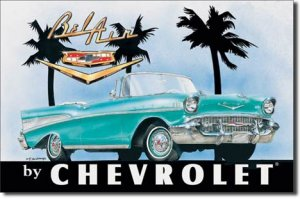 """CHEVY BEL AIR 1957 Convertable TIN SIGN  """"FREE SHIPPING"""""""