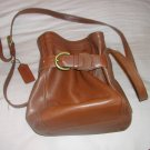 Coach walnut/brown leather small purse handbag Item # 4156