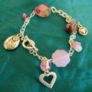 """Handmade Beaded Charm Bracelet - """"Be True"""""""