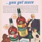 1941 Glenmore Kentucky Straight Bourbon Whiskey Original Vintage Ad with Man Enjoying Dogs