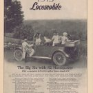 1913 Locomobile Big Six Touring Car Original Advertisement with Neat Vintage  Sightseeing Photo