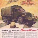 1941 International WW2 War Truck Original Vintage Ad for National Defense