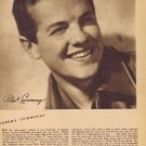 Young Robert Cummings 1942 Sepia Movie Picture with Autograph Copy and Movie News