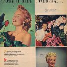 1955 Hollywood Beauties Say it with Flowers with Stars and Poems