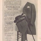 Stein-Bloch Smart Men's Clothes 1910 Original Vintage Advertisement with Formal Suit and Hat