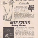 Keen Kutter Safety Razor 1910 Original Vintage Advertisement with Prices and Pictures