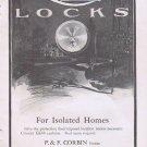 Orbin Locks 1912 Original Vintage Advertisement for Isolated Homes