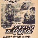 Peking Express 1951 Original Movie Ad with Joseph Cotton and Corinne Calvert