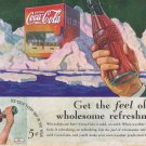1936 Coca-Cola Soft Drink Original Vintage Advertisement with 5 cent Coke