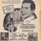 The Great Caruso 1951 Original Movie Ad with Mario Lanza and Ann Blyth