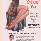 1947 Mennen Brushless Shave Original Vintage Advertisement with Sexy Woman in Negligee