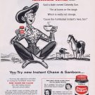 1956 Chase & Sanborn Coffee Original Vintage Advertisement with Whitney Darrow Country Art
