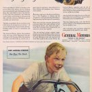 1944 General Motors WW2 Original Vintage Ad with Boy Jimmy on Bicycle
