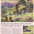 1943 Studebaker WW2 Military Trucks Original Vintage Advertisement