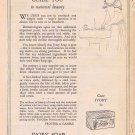 1924 Ivory Soap Original Vintage Ad with Guide to Natural Beauty