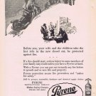 1924 Pyrene Fire Extinguisher Original Vintage Ad with Fire Insurance Savings