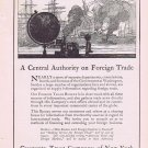 1920 Guaranty Trust Co of New York Original Vintage Ad Authority on Foreign Trade