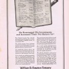 1920 William R. Compton Investment Company Original Vintage Advertisement