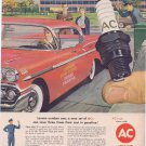 1957 AC Spark Plugs Original Vintage Advertisement with High School Driver Training Car