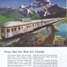 1955 Budd Canadian Pacific Railway Original Vintage Advertisement
