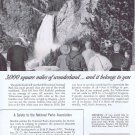 1955 Sinclair Oil Original Vintage Advertisement at Yellowstone Park Gorge