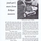 1957 Eclipse Reel Power Lawn Mower Original Vintage Ad Unique-Looking