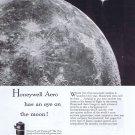 1957 Honeywell Aero Aeronautics Original Vintage Ad Eye on the Moon with First Satellite