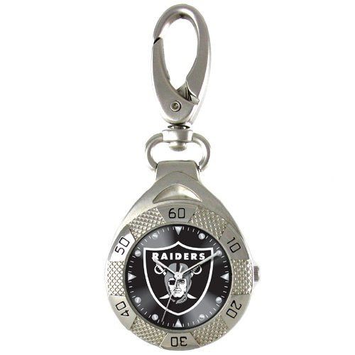 GAME TIME OAKLAND RAIDERS CLIP ON WATCH GRANDSTAND SERIES FREE SHIPPING LIFETIME WARRANTY