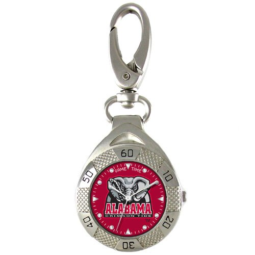 GAME TIME ALABAMA CRIMSON TIDE CLIP ON WATCH GRANDSTAND SERIES FREE SHIPPING LIFETIME WARRANTY