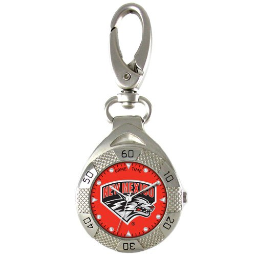 GAME TIME NEW MEXICO LOBOS CLIP ON WATCH GRANDSTAND SERIES FREE SHIPPING LIFETIME WARRANTY