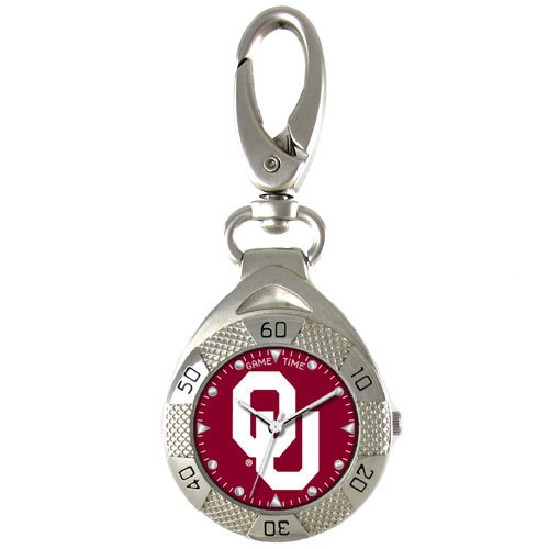 GAME TIME OKLAHOMA SOONERS CLIP ON WATCH GRANDSTAND SERIES FREE SHIPPING LIFETIME WARRANTY