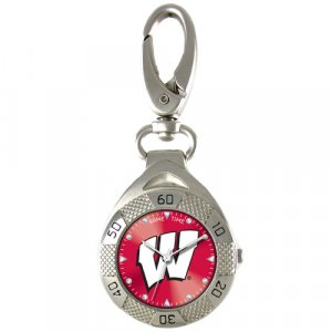 GAME TIME WISCONSIN CLIP ON WATCH GRANDSTAND SERIES FREE SHIPPING LIFETIME WARRANTY