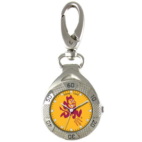 GAME TIME ARIZONA STATE SUN DEVILS CLIP ON WATCH GRANDSTAND SERIES FREE SHIPPING LIFETIME WARRANTY