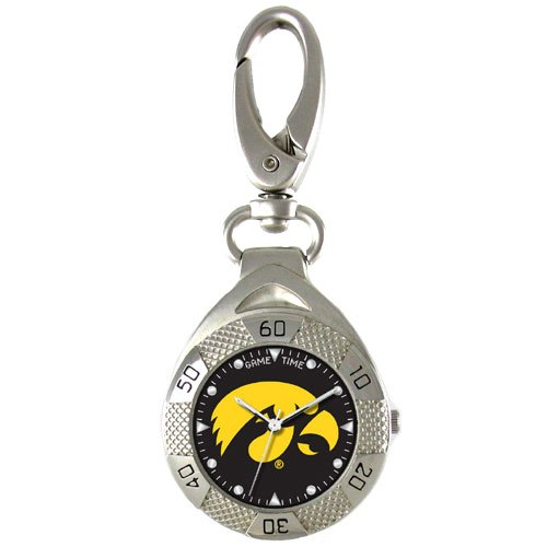 GAME TIME IOWA HAWKEYES CLIP ON WATCH GRANDSTAND SERIES FREE SHIPPING LIFETIME WARRANTY